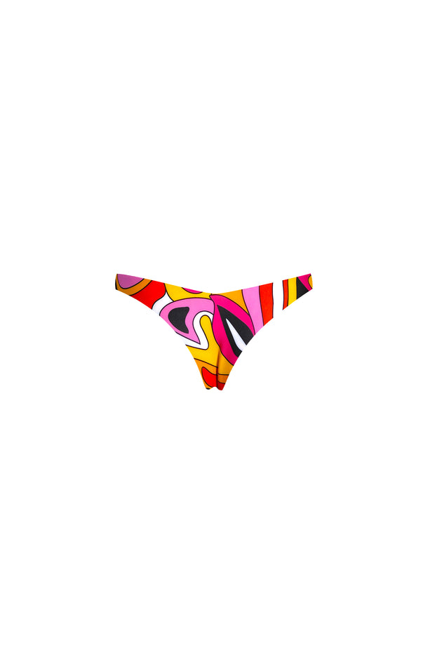 V Tanning Bottom (Pink Orange Geo)
