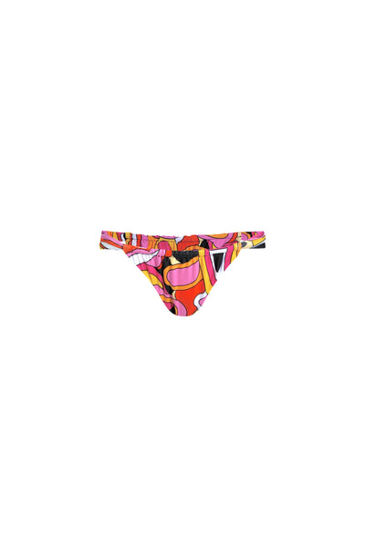 Ruched Bottom (Pink Orange Geo)