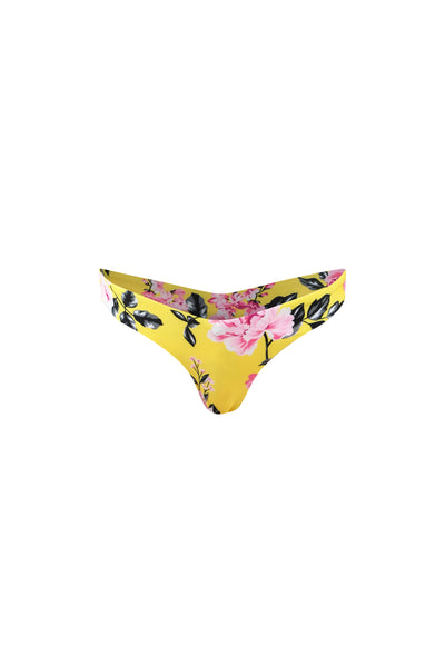 V Tanning Bottom (Yellow Pink Floral)