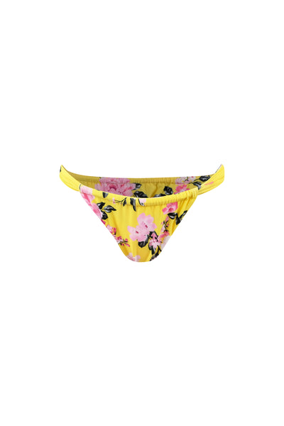 Ruched Bottom (Yellow Pink Floral)