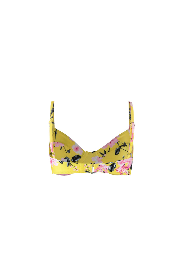 Bustier Bra Top (Yellow Pink Floral)