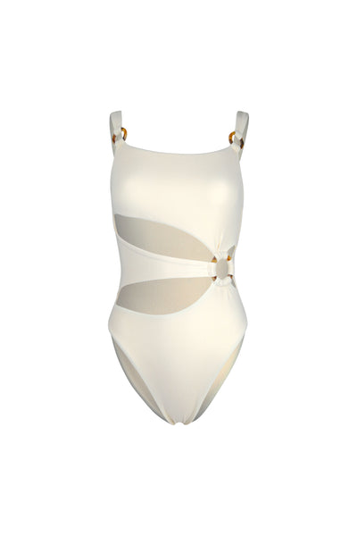 Hunter One Piece (Faux Suede Cream)