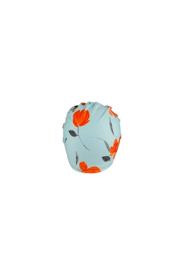 turban (blue orange floral)