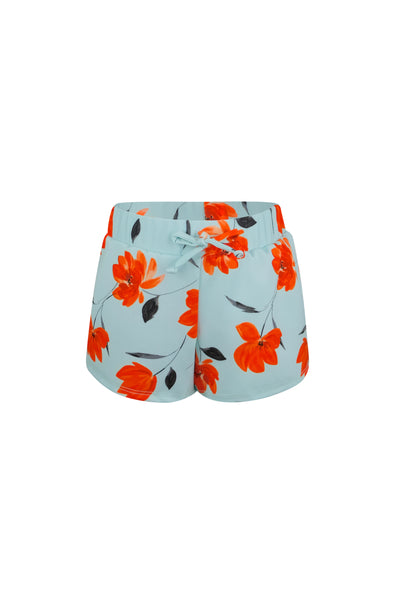 shorties (blue orange floral)