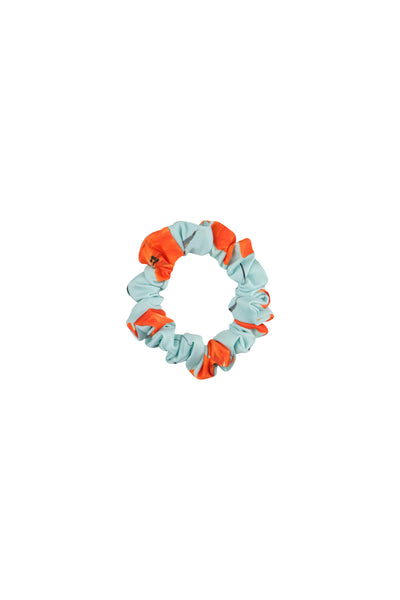 scrunchie (blue orange floral)