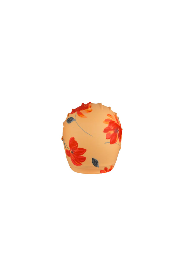 turban (peach rust floral)