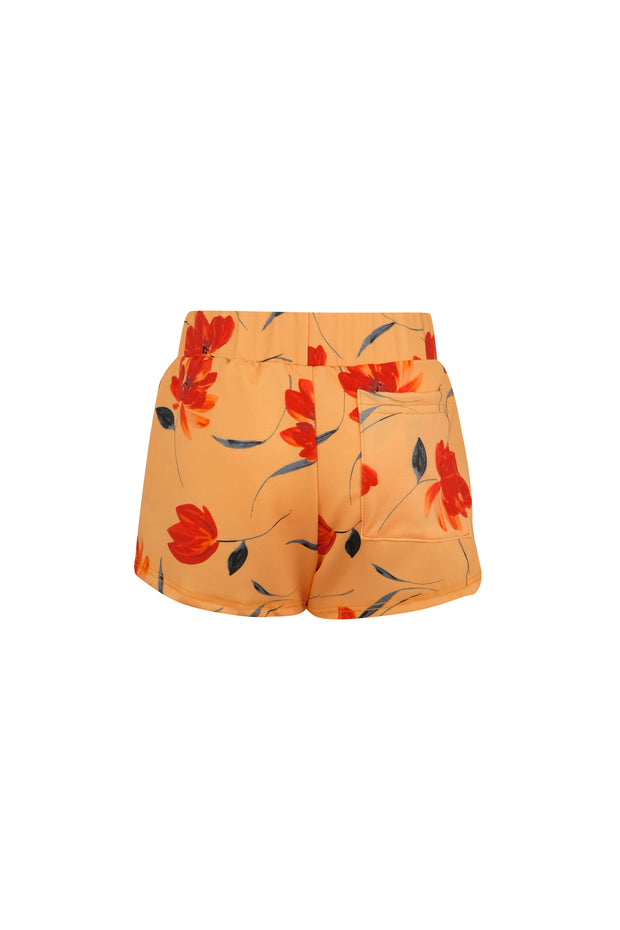 shorties (peach rust floral)