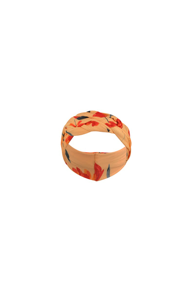 headband (peach rust floral)