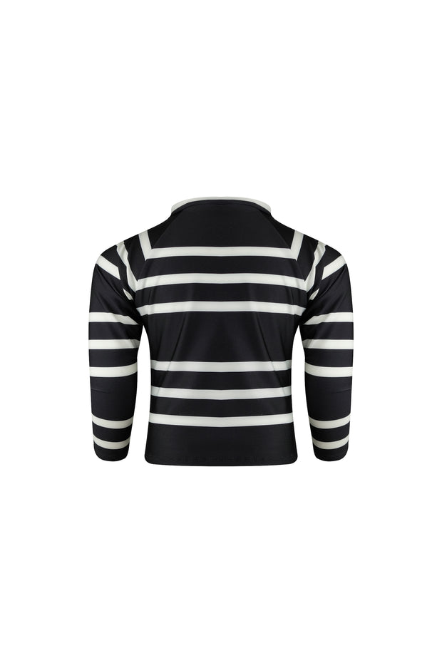 unisex rashguard (black cream stripe)
