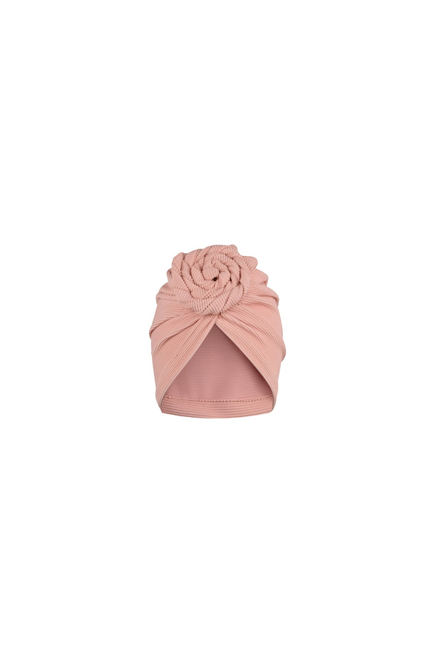 turban (ribbed blush)