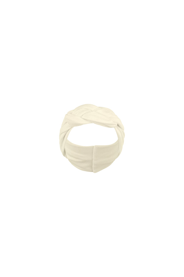 headband (ribbed cream)