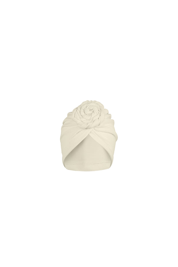 turban (ribbed cream)