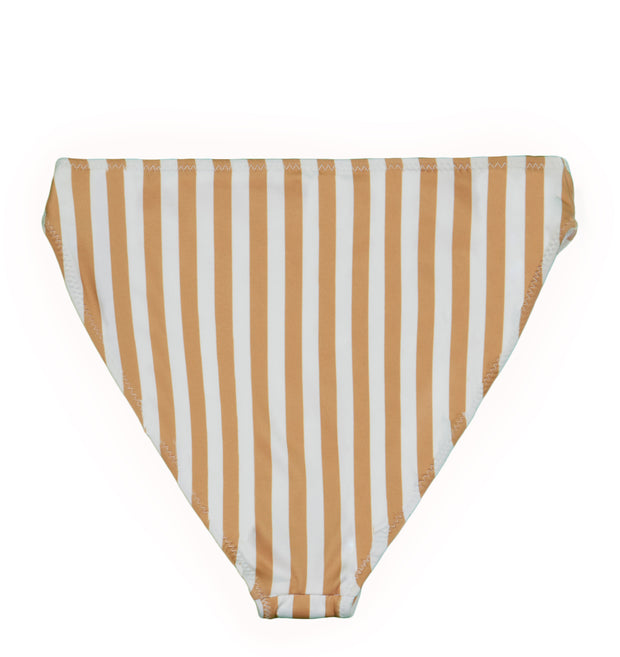 The Divine High Rise Bottom (Tan/White Stripe)