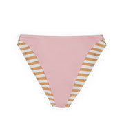 The Divine High Rise Bottom (Tan White Stripe/Pink)