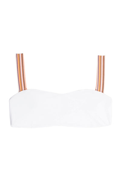 The Foxy Top (Blanc/Multi Stripe Elastic)