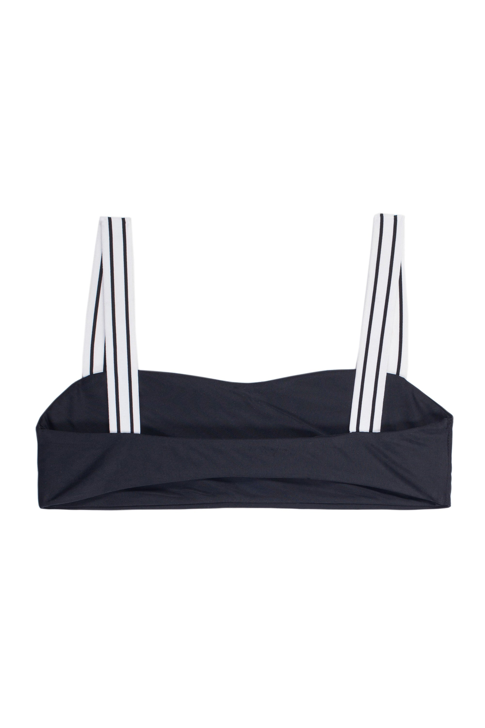 The Foxy Top (Noir/Blanc & Noir Stripe Elastic)