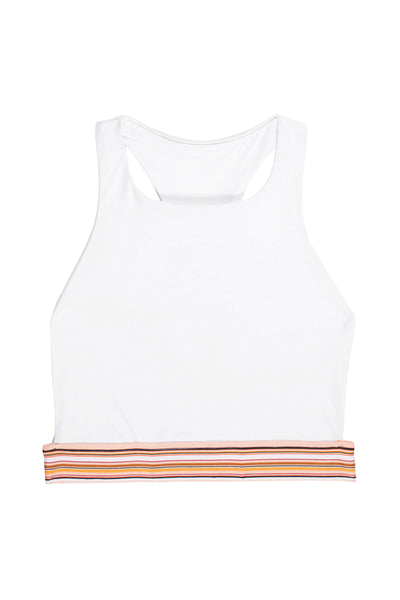 The Honey Halter (Blanc/Multi Stripe Elastic)