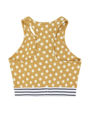 Elastic Bra (Sunflower Polka Dot)