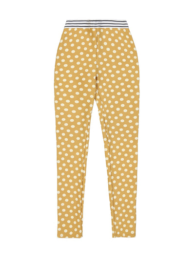 Elastic Legging (Sunflower Polka Dot)
