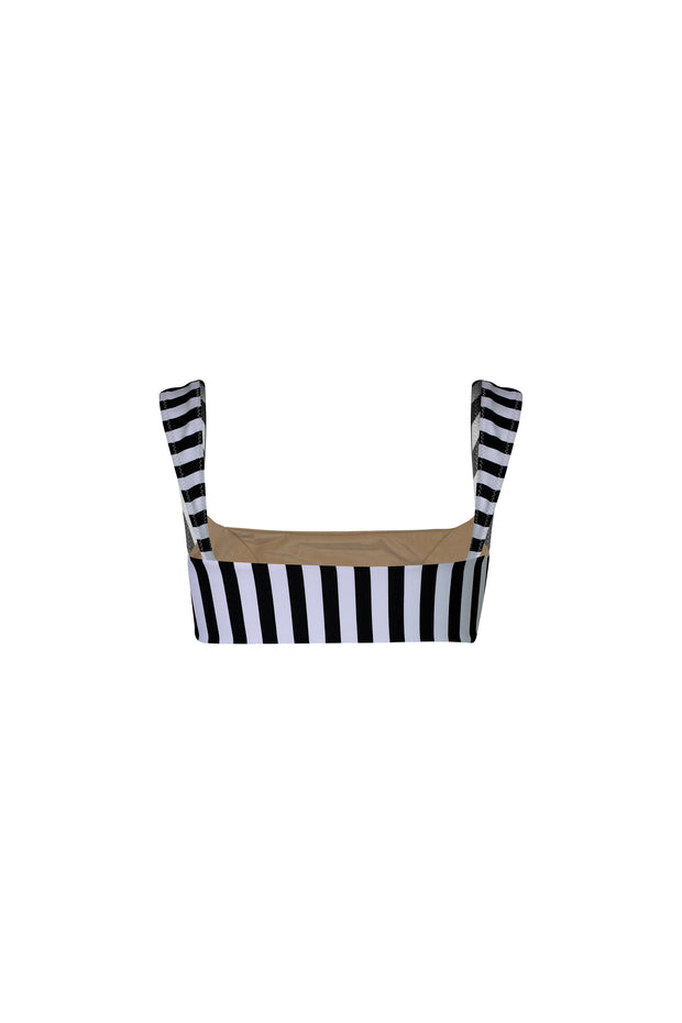 The Divine Top (Black White Stripe/Taupe)