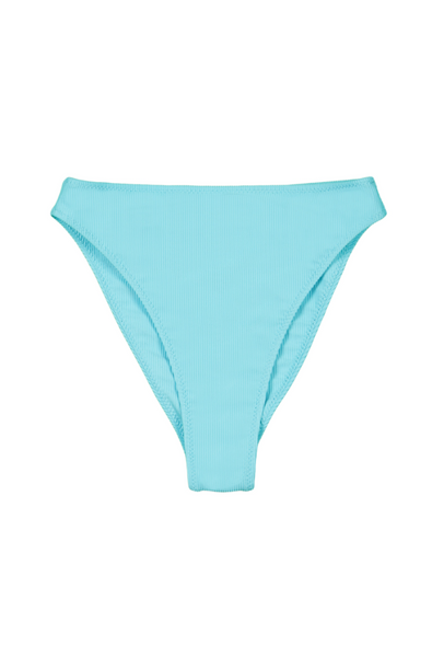 High Rise Bottom (Ribbed Caribbean Blue)