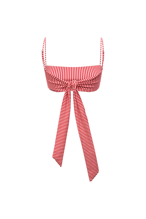 Bandeau Top (Red/White Stripe)