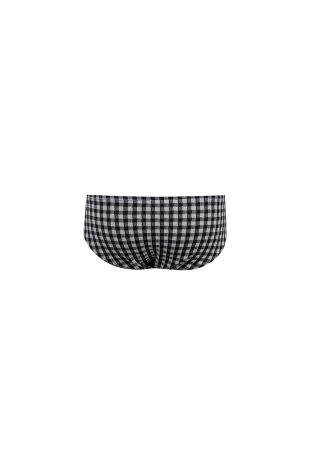 bamm-bamm brief (black gingham)