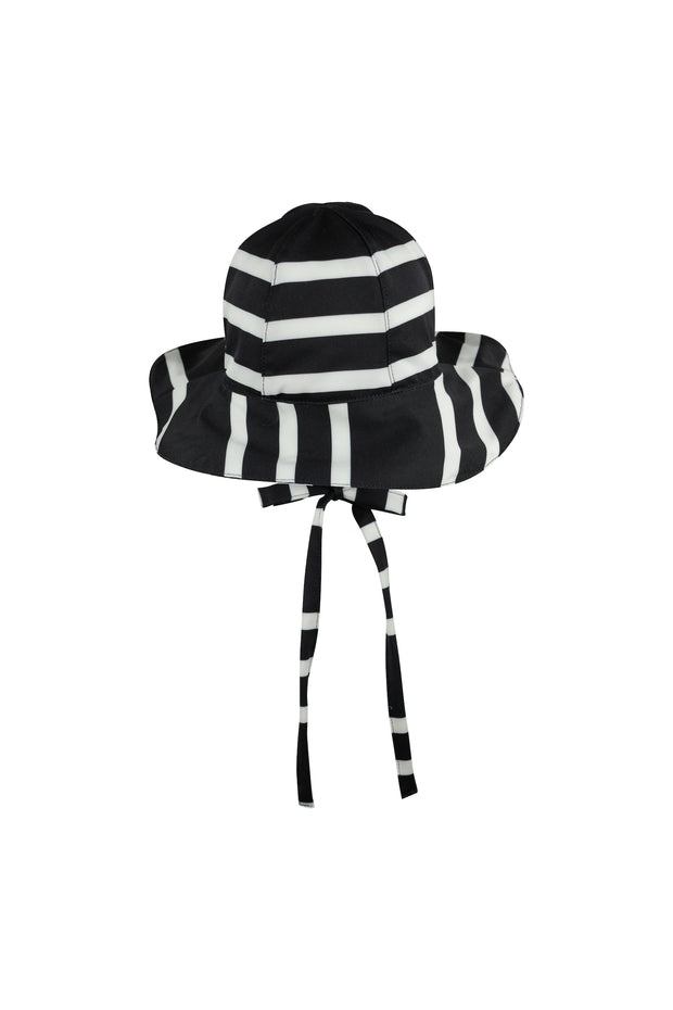 sun hat (black cream stripe)