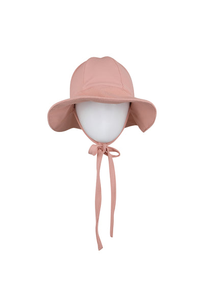 sun hat (ribbed blush)