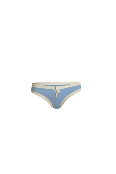 The Grace Bottom (Ribbed Baby Blue/Cream)