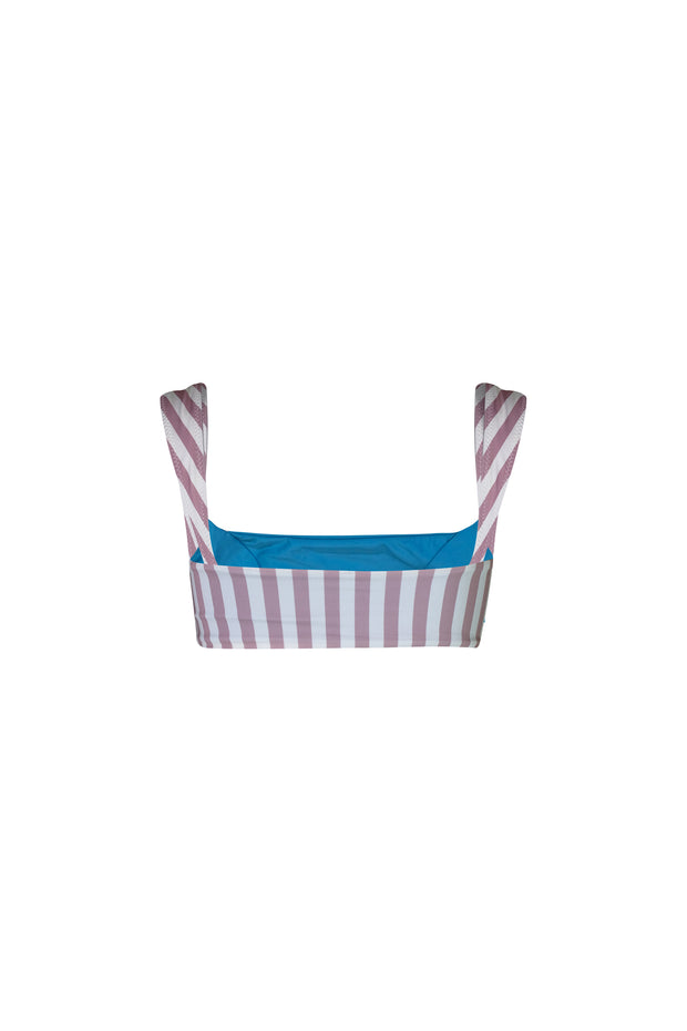 The Divine Top (Rosy Cream Stripe/Aqua)
