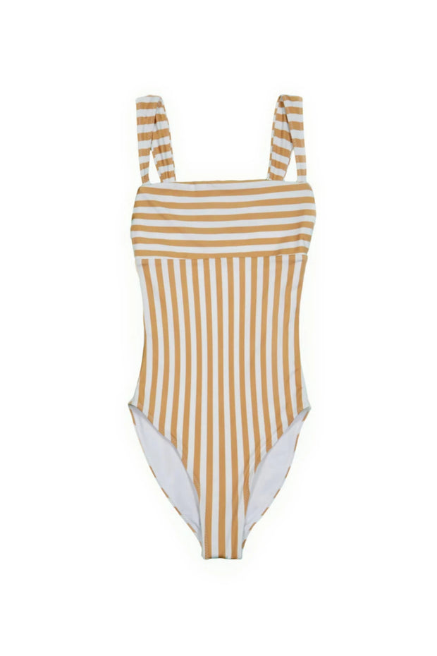 The Divine One Piece (Tan/White Stripe)
