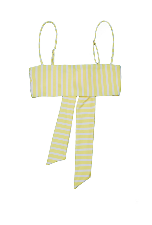 Bandeau Top  (Yellow White Stripe)