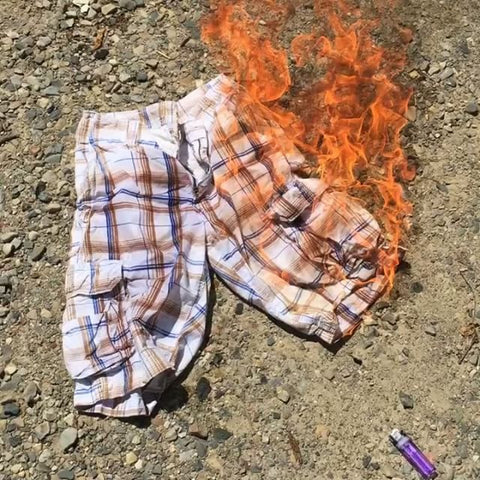 cargo shorts burning