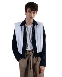 Pleated Blouson Jacket