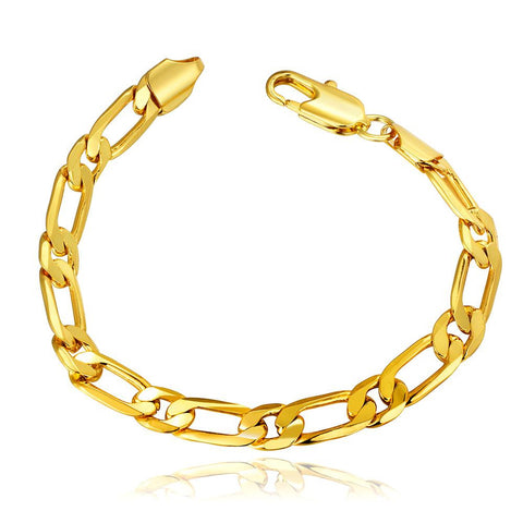 18K Gold Thin Classic Bracelet with Swarovski Elements - rubiquejewelry.com