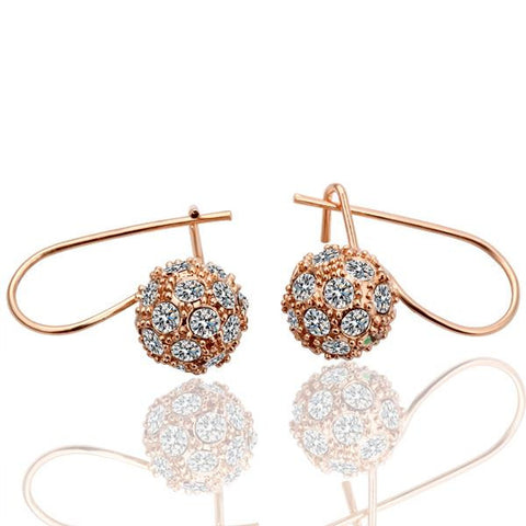 18K Gold Swarovski Hoop Earrings Made with Swarovksi Elements - rubiquejewelry.com