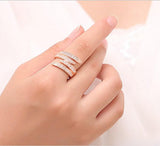 18K Rose Gold Classic Arian̴ Ring made with Swarovski Elements - rubiquejewelry.com - 1