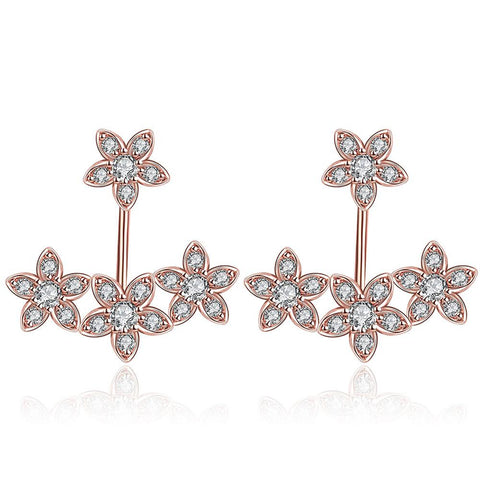 Rose Gold Plated Modern Ear Jackets - rubiquejewelry.com