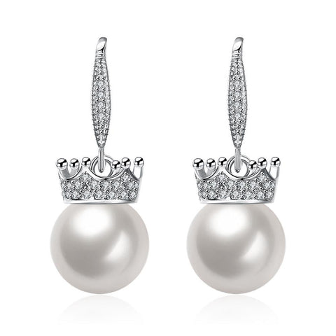 Cultured Pearl Lined Classic Drop Earrings - rubiquejewelry.com