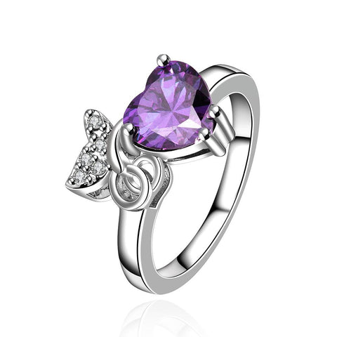 Petite Purple Citrine Gem with Jewels Insert Ring - rubiquejewelry.com