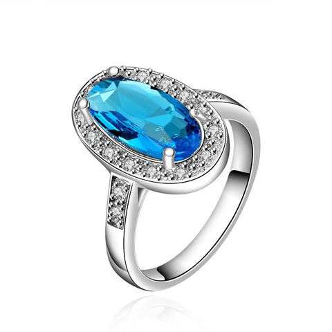 Mock Sapphire Gem Jewels Covering Classical Ring - rubiquejewelry.com