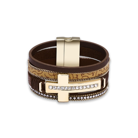Swarovski Crystal Vegan Leather Bracelets - Style 347