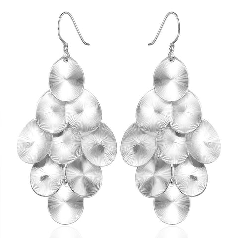 Sterling Silver Orchid Plated Drop Earring - rubiquejewelry.com