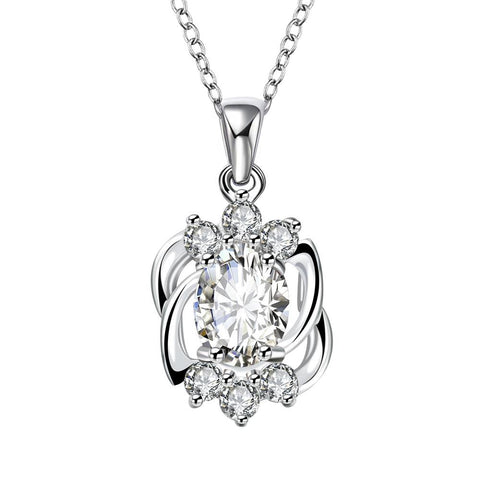 Blossoming Crystal  Pendant Dangling Necklace - rubiquejewelry.com