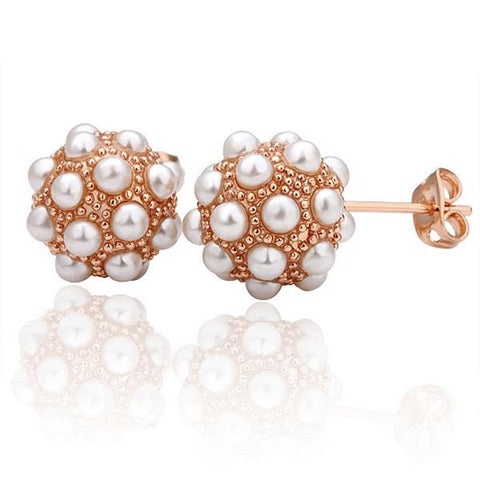 18K Gold Studded Swarovski Crystal Stud Earrings Made with Swarovksi Elements - rubiquejewelry.com