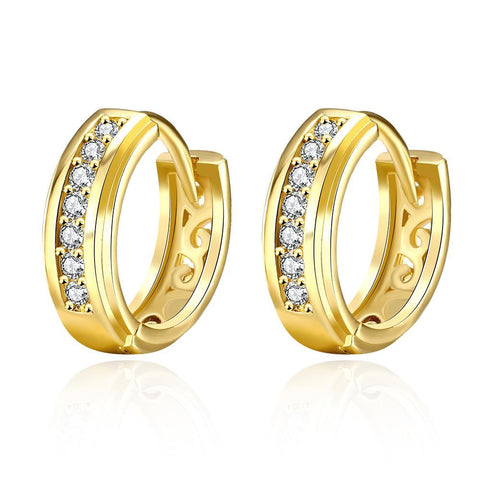 Gold Plated Fifth Avenue Inspired Hoop Earrings - rubiquejewelry.com