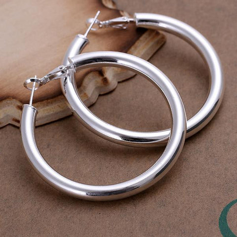 Sterling Silver London Inspired Hoops - rubiquejewelry.com