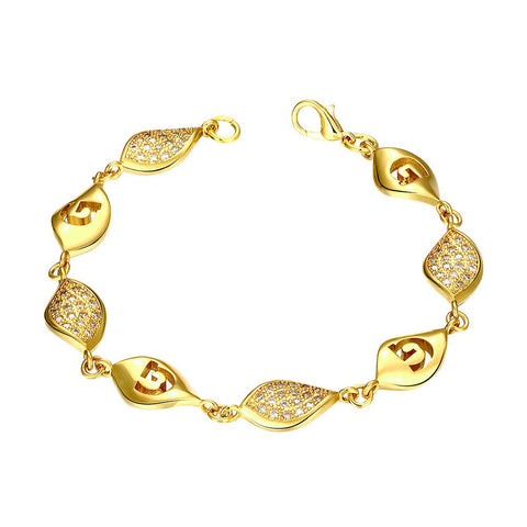 Gold Plated European Intertwined Matrix Bracelet by Rubique Jewelry