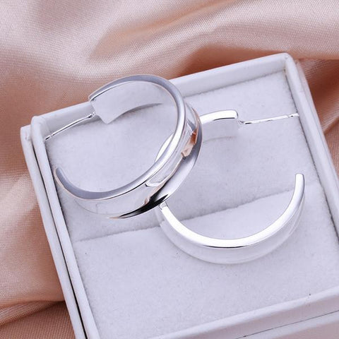 Sterling Silver New York Inspired Hoops - rubiquejewelry.com